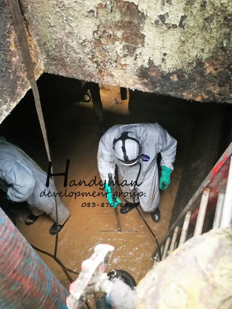 CONFINE SPACE SERVICES / บริการทำงานใน ที่อับอากาศ ถังบรรจุภัณฑ์ ท่อ บ่อบำบัดน้ำเสีย