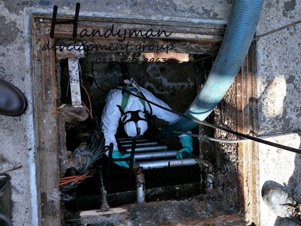 CONFINE SPACE SERVICES / บริการทำงานในที่อับอากาศ ถังบรรจุภัณฑ์ ท่อ บ่อบำบัดน้ำเสีย